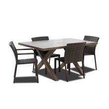"86"" Patio Table and 4 Side Chairs"