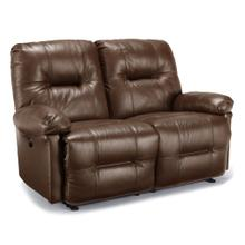 Zaynah Reclining Leather Loveseat (Saddle)