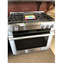 See Details - HR 1936-2 G 36 inch range Dual Fuel with M Touch controls, Moisture Plus and M Pro dual stacked burners