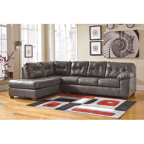 Alliston - Gray - 2-Piece Sectional with Left Facing Chaise