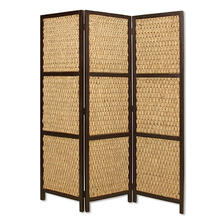Braided Rope Screen 3 Panel Room Divider