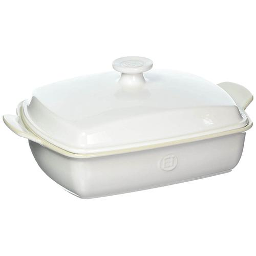 Emile Henry - Emile Henry Ceramic Covered Rectangular Baker, 2.9-Quart, Sugar