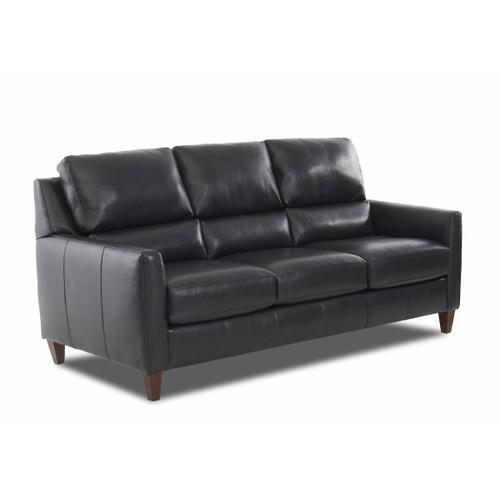 Distinctions - Darkar Charcoal All Leather Sofa