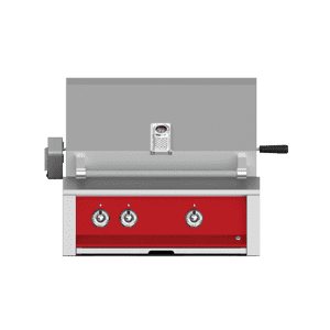 "Aspire By Hestan 30"" Built-In U-Burner, Sear and Rotisserie Grill LP Matador Red"
