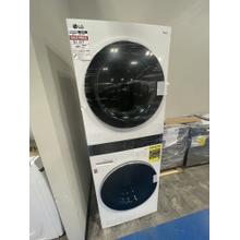 See Details - **WEST LOCATION** Single Unit Front Load LG WashTower™ with Center Control™ 4.5 cu. ft. Washer and 7.4 cu. ft. Electric Dryer **DENT ON FRONT**