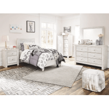 Paxberry- Whitewash- Dresser, Mirror, Chest, Nightstand & Twin Panel Bed