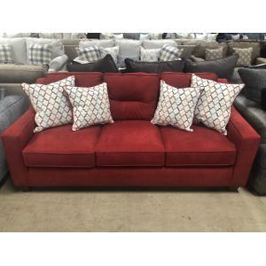 American Furniture Manufacturing - Cranapple Red Track Arm Sofa