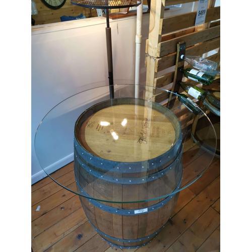 Wine Barrel Bar Table