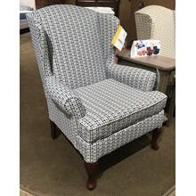 DORIS Wing Back Chair in Ocean   (0750DC-28702,40021)