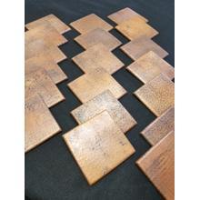 "6""x6"" Hammered Copper Tiles"