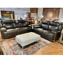 See Details - Sanibel Graphite Leather Reclining Sofa & Loveseat