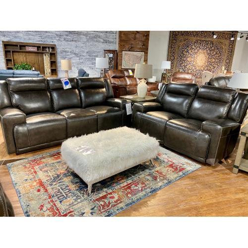 Futura - Sanibel Graphite Leather Reclining Sofa & Loveseat