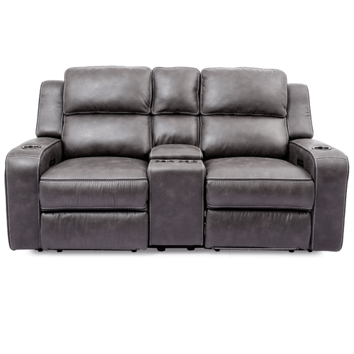 Cheers - Luca Granite Power Loveseat with Console