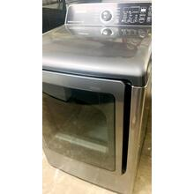 See Details - USED- 7.3 cu. ft. King-size Capacity Gas Front Load Dryer (Stainless Platinum)- FLGDRY27SS-U  SERIAL #1