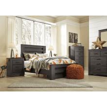 Brinxton- Black- 7 Pc.- Dresser, Mirror, Chest, Nightstand & Full Panel Bed