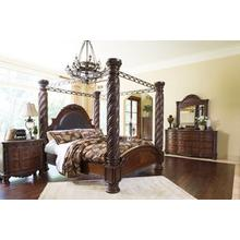 See Details - North Shore - King Poster Bed, Nightstand, Chest, Dresser and Mirror