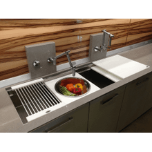 The award-winning Galley Workstation™ is revolutionary in function and design. Much more than a sink, it is a super-functional workstation. Never before has a sink had so much to offer, both indoors and out.
