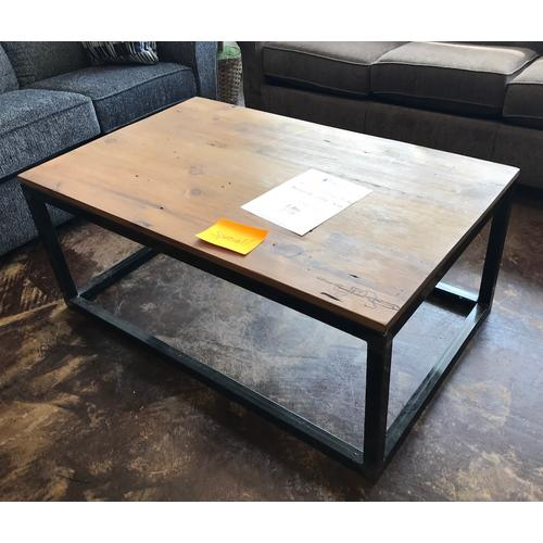 Barnwood coffee table.