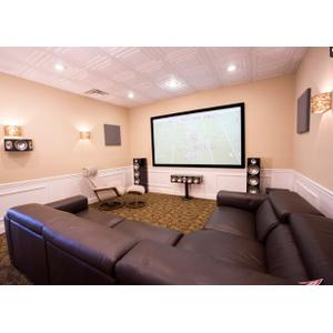 "Sony 4K Theater complete with Paradigm Prestige series speakers Anthem Audio and 110"" High contrast screen"
