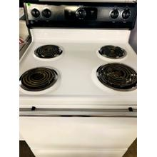 "USED- GE® 30"" Free-Standing Electric Range-E30BLCOIL-U SERIAL #4"