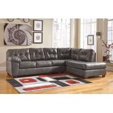 Alliston - Gray - 2-Piece Sectional with Right Facing Chaise
