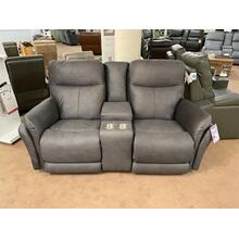 See Details - 888 Power console loveseat with adjustable headrest and lumbar