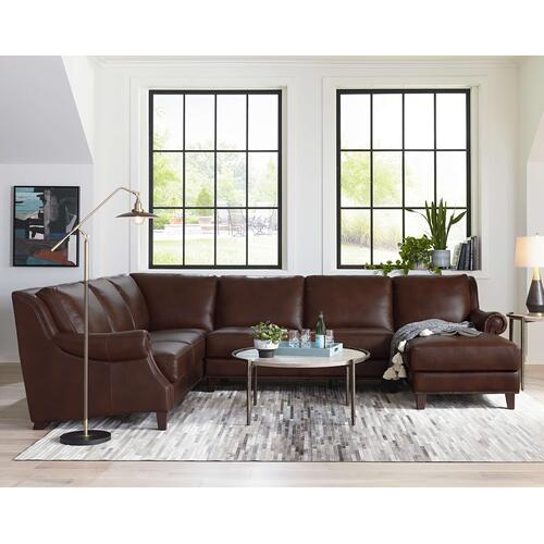 Bassett Furniture - Premium Collection - Pierce Hickory Leather Sectional