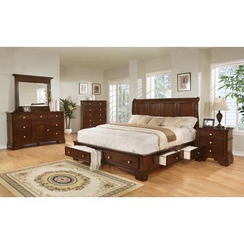 C3185  Bedroom Group - Cherry (Chest and Dresser/Mirror Only Available)