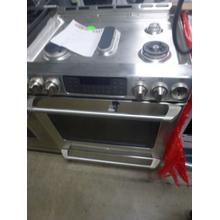 See Details - GE%20Cafe™%20Series%2030%22%20Slide-In%20Front%20Control%20Range%20with%20Baking%20Drawer