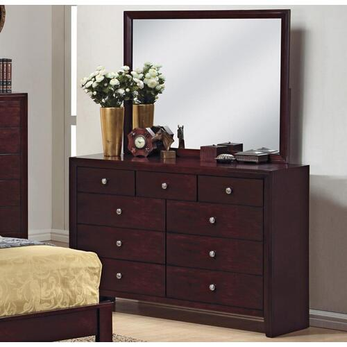Packages - CrownMark 4 Pc Queen Bedroom Set, Espresso Evan B4700, Includes: Queen Bed, Dresser, Mirror and 1 Night Stand