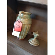 CLEARANCE Lidded Jar Accent Piece