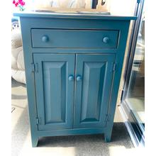 See Details - COIN BLUE SMALL JELLY CABINET W/DRAWER      (23-CA,75235)