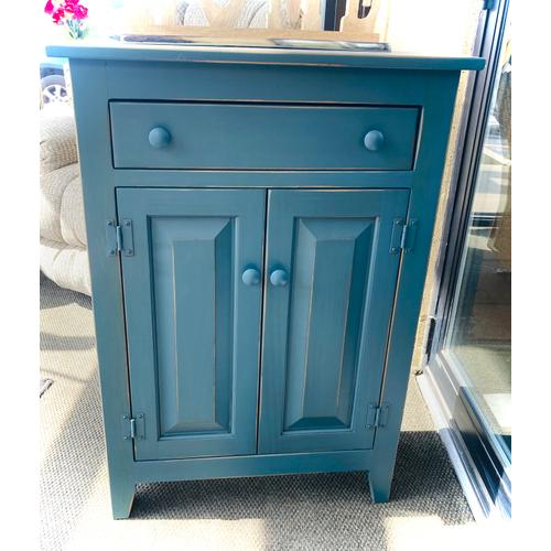 Jk Pine - COIN BLUE SMALL JELLY CABINET W/DRAWER      (23-CA,75235)
