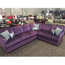 Purple 2 Piece Comfy Sectional