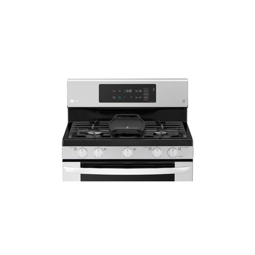 LG 5.4 Cu. Ft. Capacity Gas Single Oven Range with 2.2 Cu. Ft. Over-the-Range Microwave Oven Combo Deal