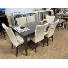 See Details - DINING SET WITH 6 UPHOLSTERED CHAIRS