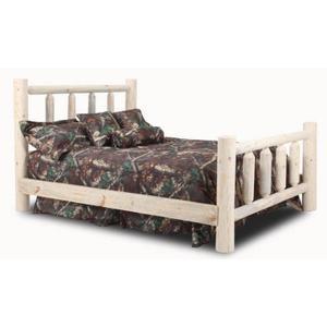 Econo Queen Log Bed