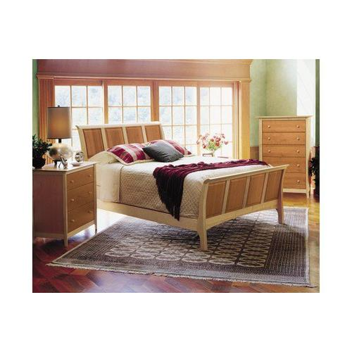 """SARAH SLEIGH 51"""" BED WITH HIGH FOOTBOARD IN CHERRY"""