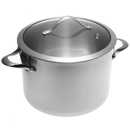 Product Image - Calphalon Contemporary Stainless 8-Quart Stockpot with Glass Lid