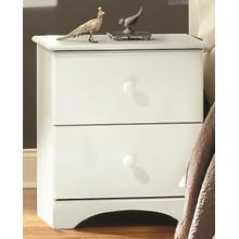 2 Drawer Nightstand White