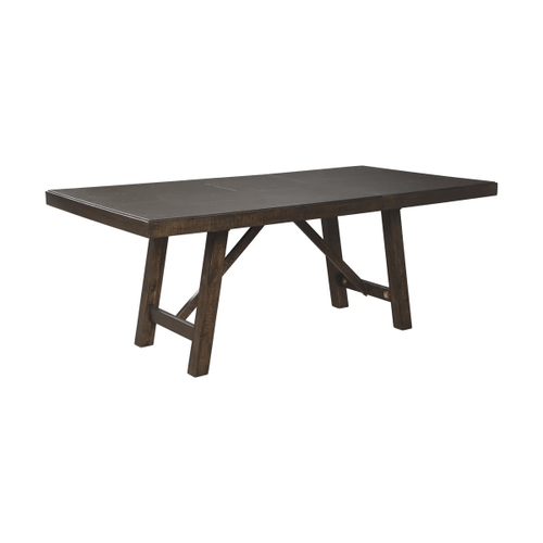 Rokane - Brown - 7 Pc. - Rectangular Extension Table & 6 Upholstered Side Chairs