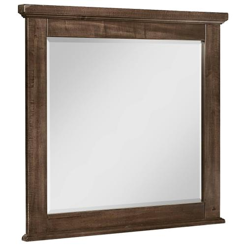 Artisan & Post Solid Wood - Artisan & Post Cool Rustic Landscape Mirror in Mink Finish
