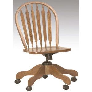 Arrowback Desk Chair Solid Oak