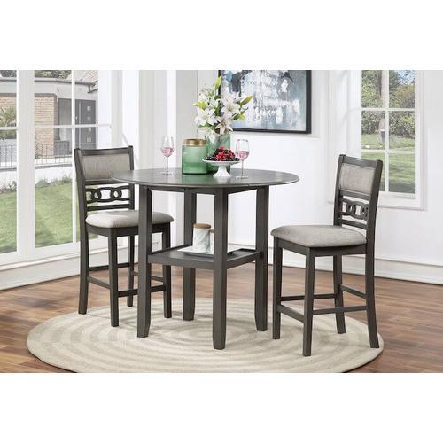 New Classic Furniture - 3 Piece Pub Set - Gia Grey