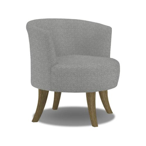 Steffen Swivel Barrel Chair in Granite Fabric