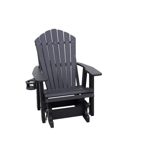 Outdoor Furniture - 2' Adirondack Glider W/Swing-out Cupholder
