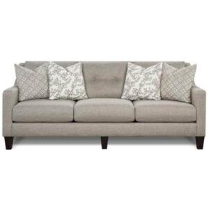 Stationary Sofa in Evenings Stone Fabric