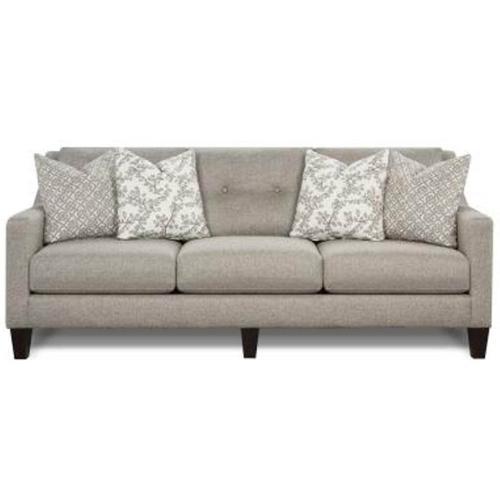 Fusion Furniture - Stationary Sofa in Evenings Stone Fabric