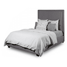 FLOOR SAMPLE QUEEN Upholstered PLATFORM BED   DESTIN GREY        (CL-7650,WAYNE-DESTGR)