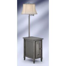 MEDALLION ANTIQUE SLATE / GUNMETAL FLOOR LAMP    (SGM6006GDB,91563)